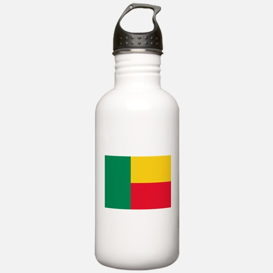 Benin Flag Water Bottle