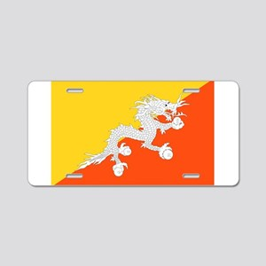 Bhutan Flag Aluminum License Plate