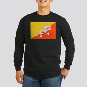 Bhutan Flag Long Sleeve T-Shirt