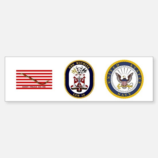 USS Wichita LCS-13 Sticker (Bumper)