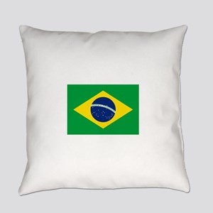 Brazil Flag Everyday Pillow