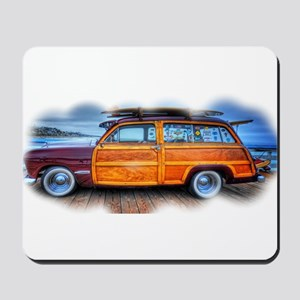 Vintage Surfing Woody Mousepad