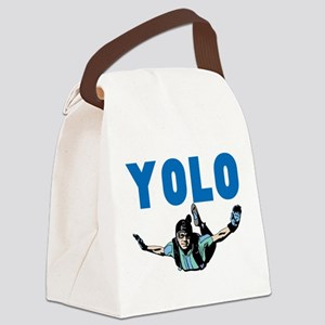 Yolo Sky Diving Canvas Lunch Bag