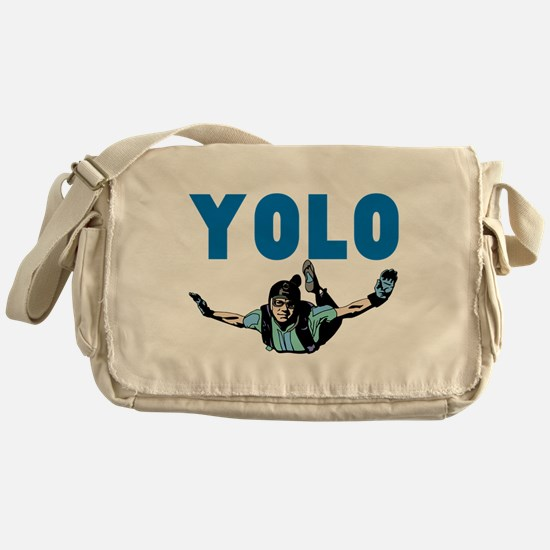 Yolo Sky Diving Messenger Bag