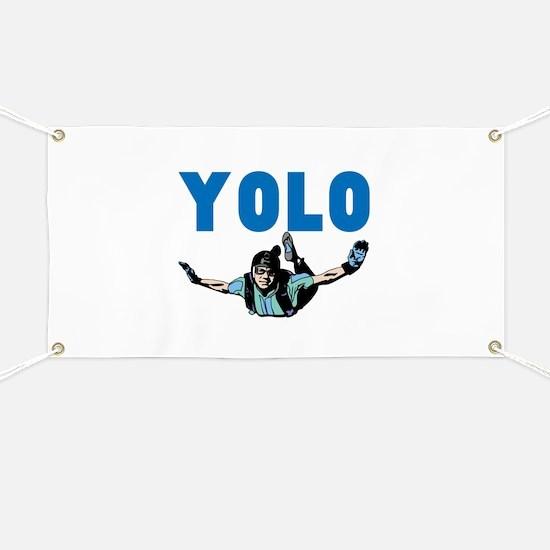 Yolo Sky Diving Banner