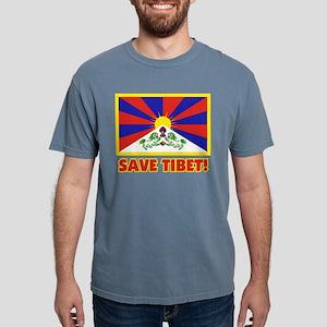 SAVE TIBET Black T-Shirt
