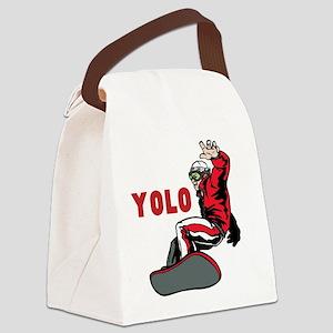 Yolo Snowboarding Canvas Lunch Bag