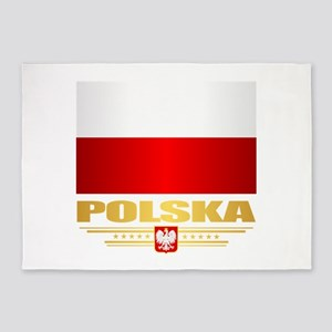 Flag of Poland 5'x7'Area Rug