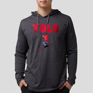 Yolo Skiing Mens Hooded Shirt