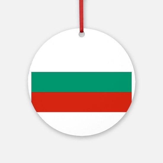 Bulgaria Flag Round Ornament