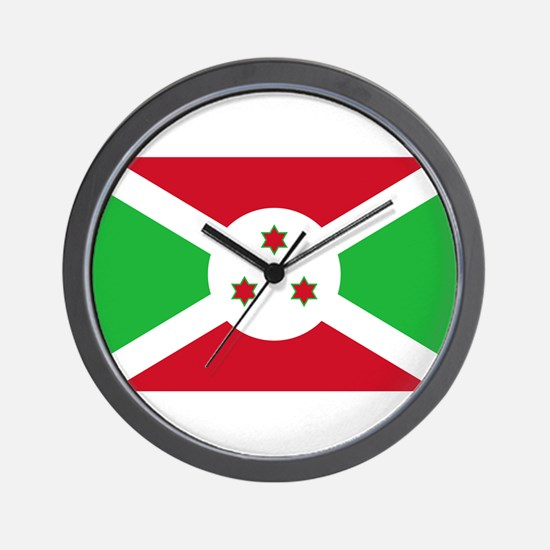 Burundi Flag Wall Clock
