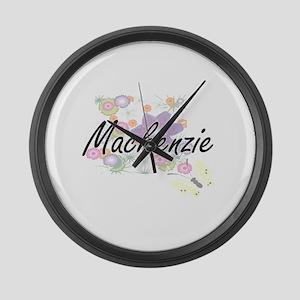Mackenzie Artistic Name Design wi Large Wall Clock