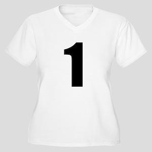 Number 1 Women's Plus Size V-Neck T-Shirt