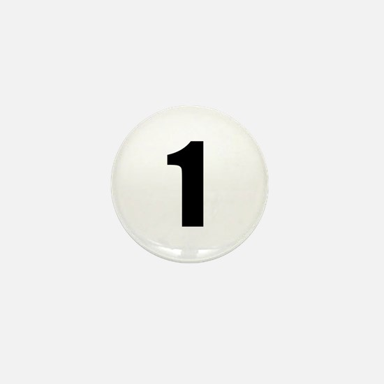 Number 1 Mini Button