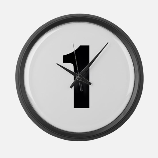 Number 1 Large Wall Clock