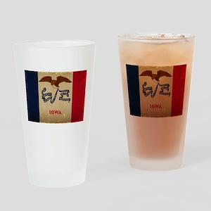 Iowa State Flag VINTAGE Drinking Glass