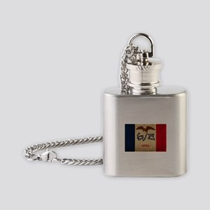 Iowa State Flag VINTAGE Flask Necklace