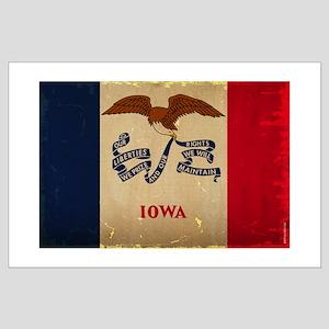 Iowa State Flag VINTAGE Posters