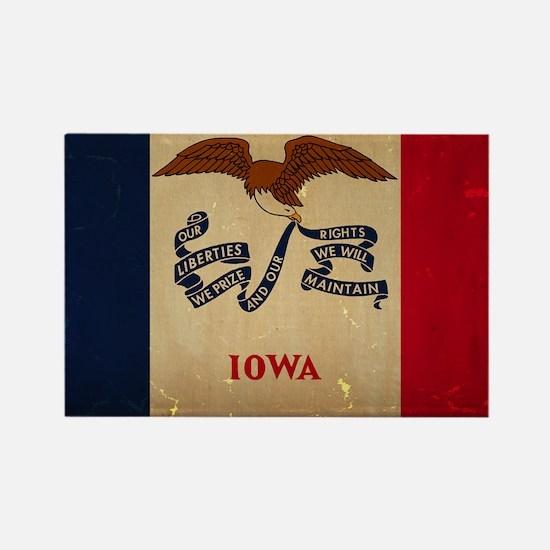 Iowa State Flag VINTAGE Magnets