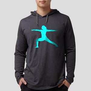 Yoga Warrior Mens Hooded Shirt