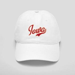 Iowa Script Crimson VINTAGE Cap