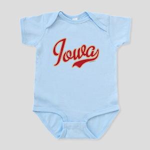 Iowa Script Crimson VINTAGE Infant Bodysuit