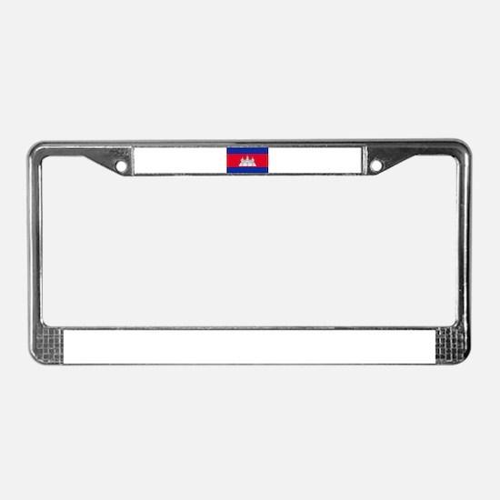 Cambodia Flag License Plate Frame