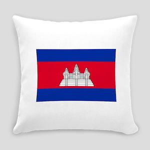 Cambodia Flag Everyday Pillow