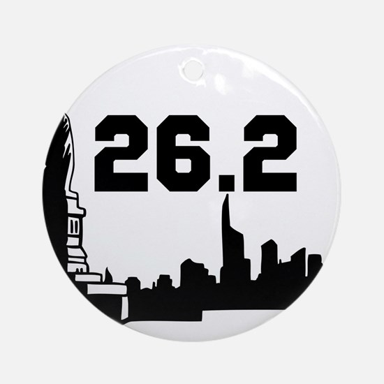 Marathon 26.2 Round Ornament