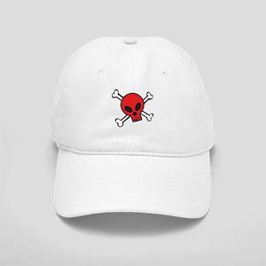 Red Skull and Crossbones Cap