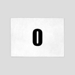 Number 0 5'x7'Area Rug