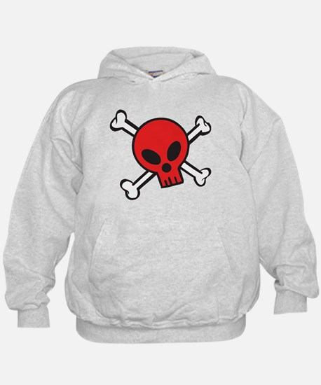 Red Skull and Crossbones Hoodie