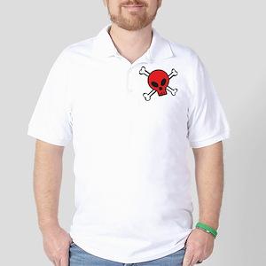 Red Skull and Crossbones Golf Shirt