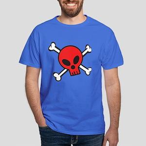 Red Skull and Crossbones Dark T-Shirt