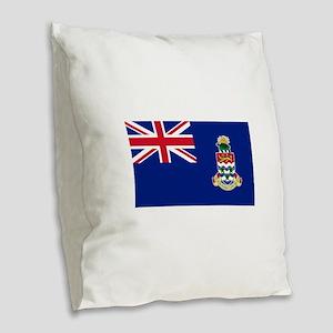 Cayman Islands Flag Burlap Throw Pillow