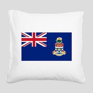 Cayman Islands Flag Square Canvas Pillow