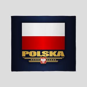 Flag Of Poland Throw Blanket