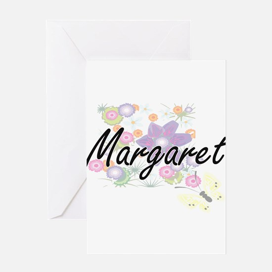 Margaret Artistic Name Design with Greeting Cards