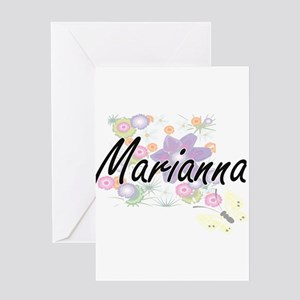 Marianna Artistic Name Design with Greeting Cards