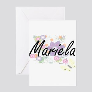 Mariela Artistic Name Design with F Greeting Cards