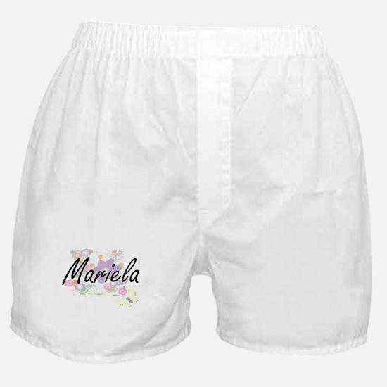 Mariela Artistic Name Design with Flo Boxer Shorts