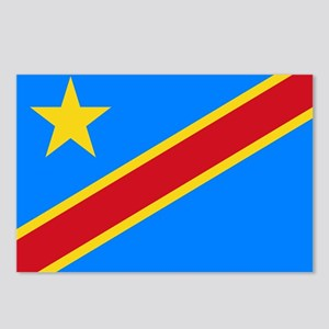 Democratic Republic of Congo Flag Postcards (Packa