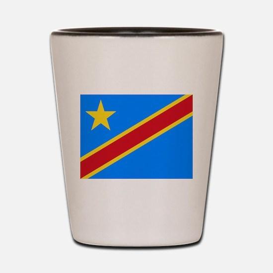 Democratic Republic of Congo Flag Shot Glass
