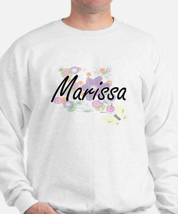 Marissa Artistic Name Design with Flowe Sweater