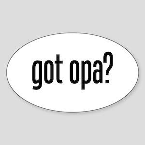 got opa? Oval Sticker