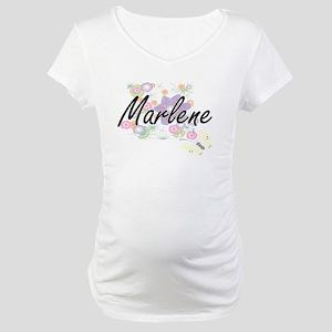 Marlene Artistic Name Design wit Maternity T-Shirt