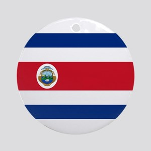 Costa Rica Flag Round Ornament