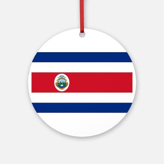 Costa Rica Flag Round Ornament
