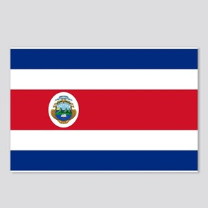 Costa Rica Flag Postcards (Package of 8)