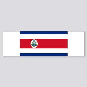 Costa Rica Flag Bumper Sticker